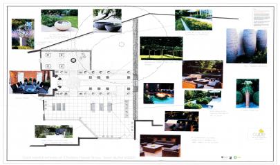 2D Handdrawn Contemporary Meets Traditional Garden Design Sean Butler