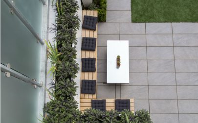 Contemporary Garden Furnishings Bespoke Cedar Bench Casual Outdoor Seating