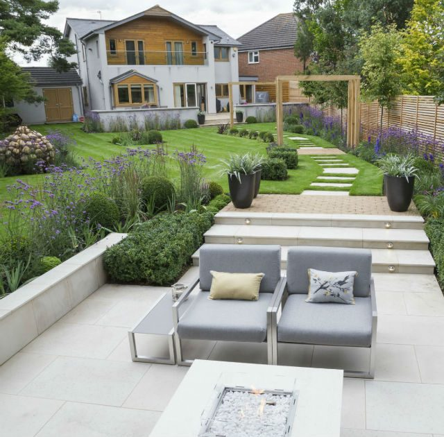 Featured Imaged Multi-level Contemporary Garden Stock Essex