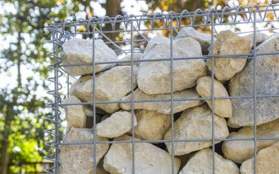 Gabion Wall. Multi-level Garden Design. Ingatestone Essex