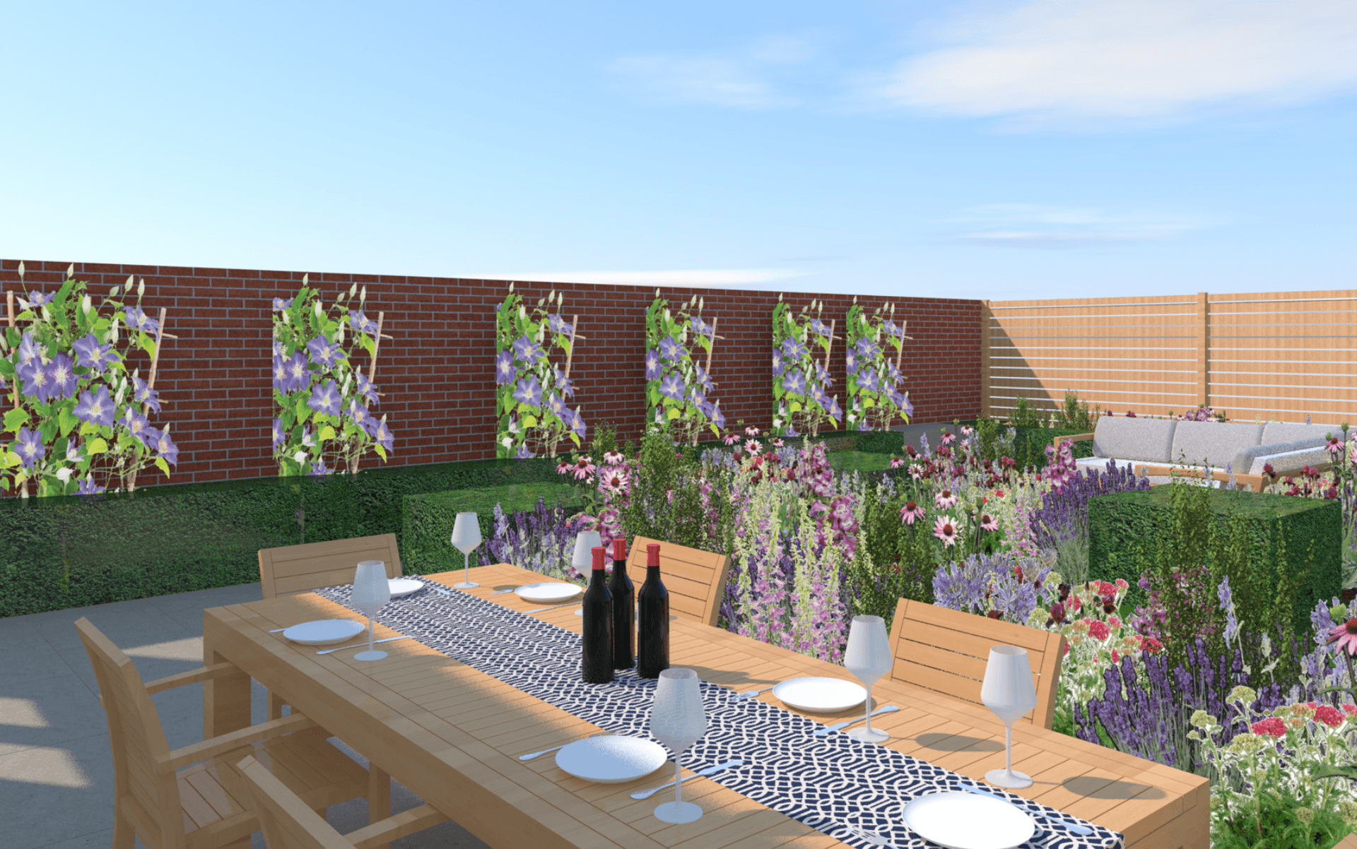 Garden Design Visual Dining and Lounge Area