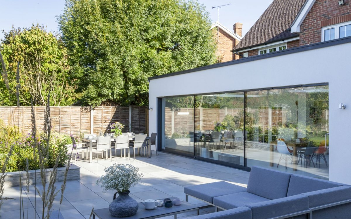 Portfolio Contemporary Family Garden Springfield Chelmsford Essex Outdoor Lounge and Dining Area