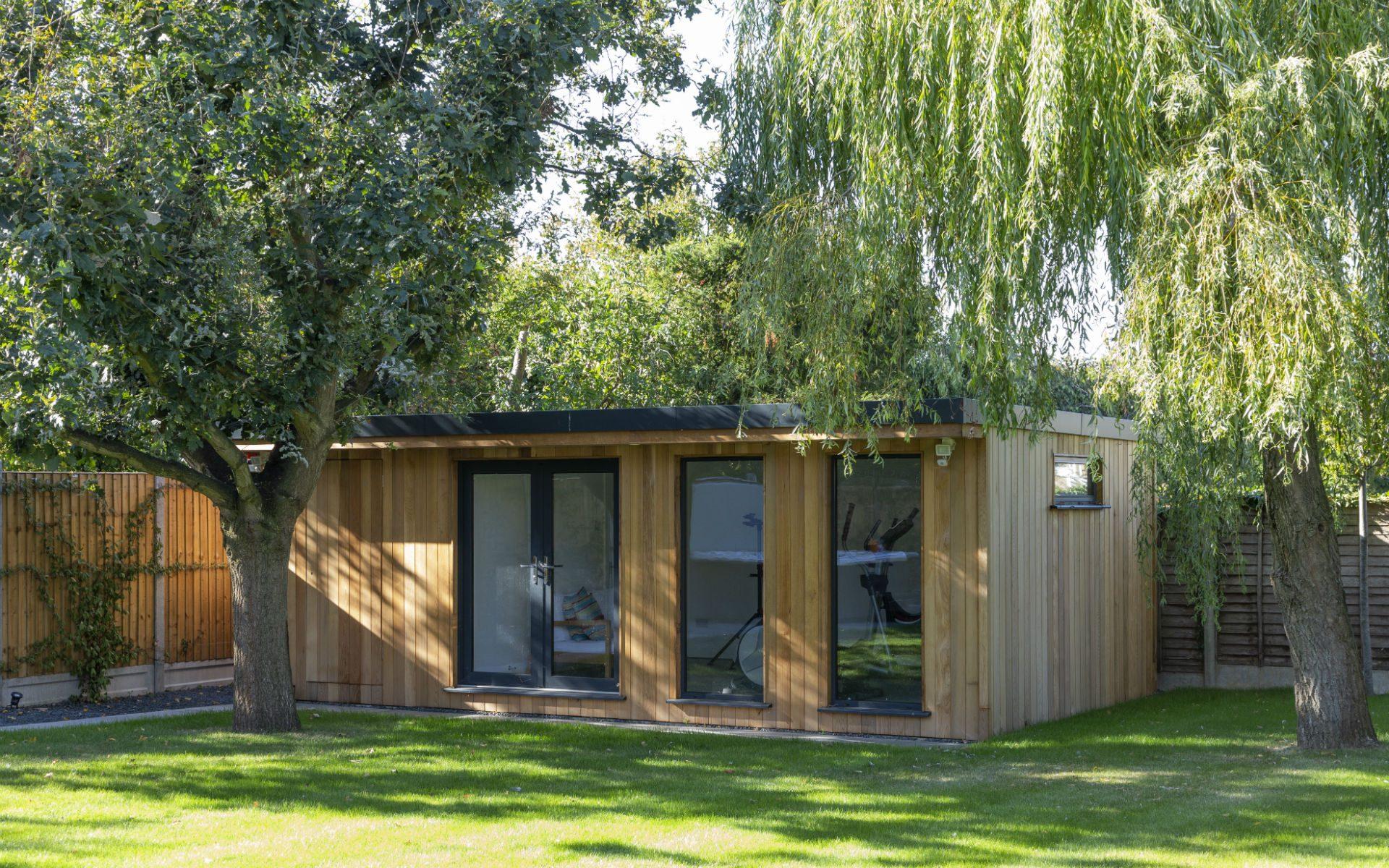 Portfolio Contemporary Family Garden Springfield Chelmsford Essex Summerhouse Mancave