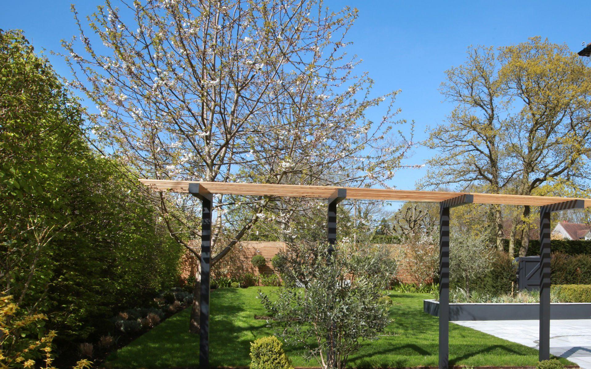Portfolio Contemporary Front Garden Little Baddow Essex Bespoke Pergola