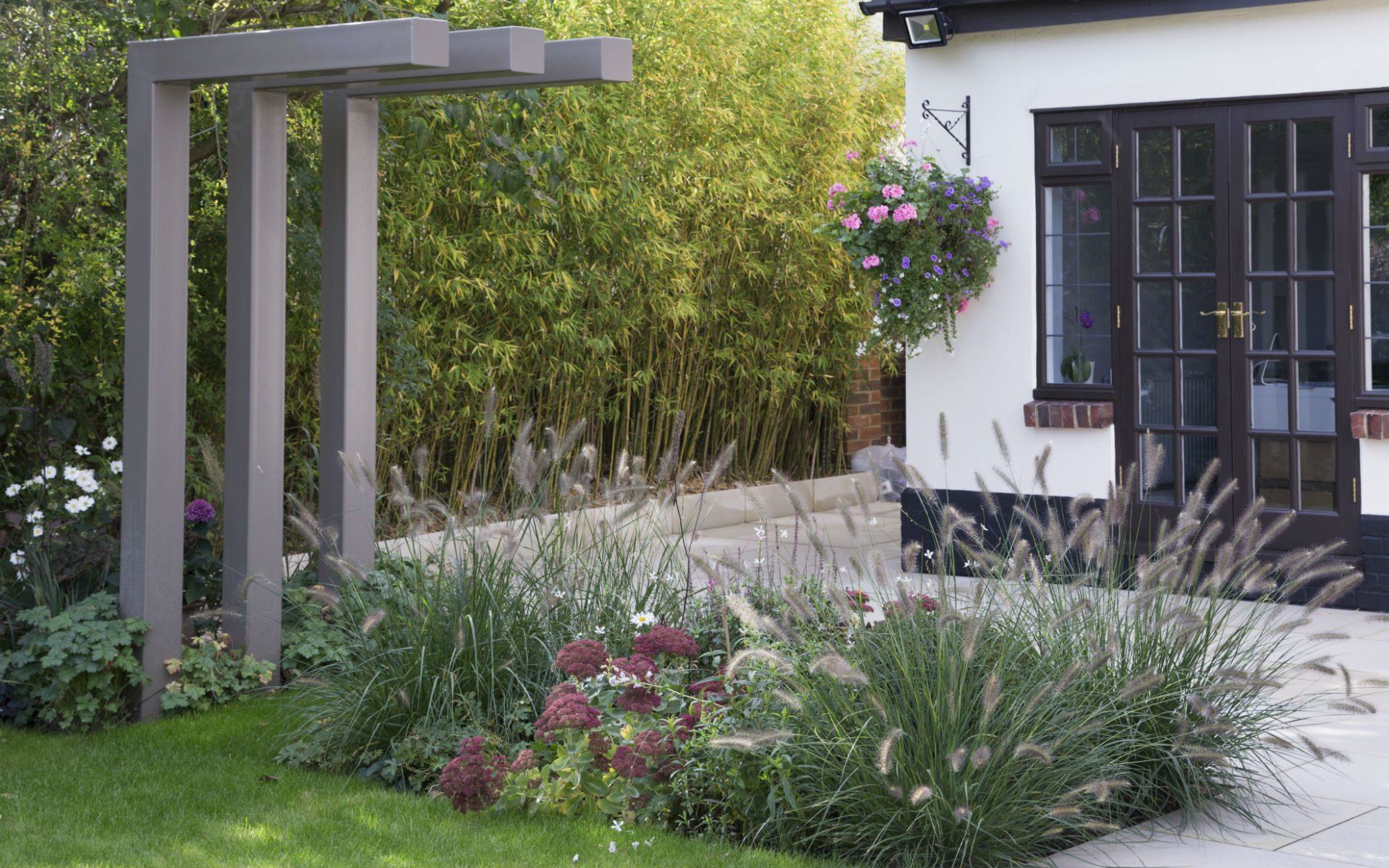 Portfolio Contemporary Garden Chelmsford Essex Bespoke Pergola Bamboo Hedge