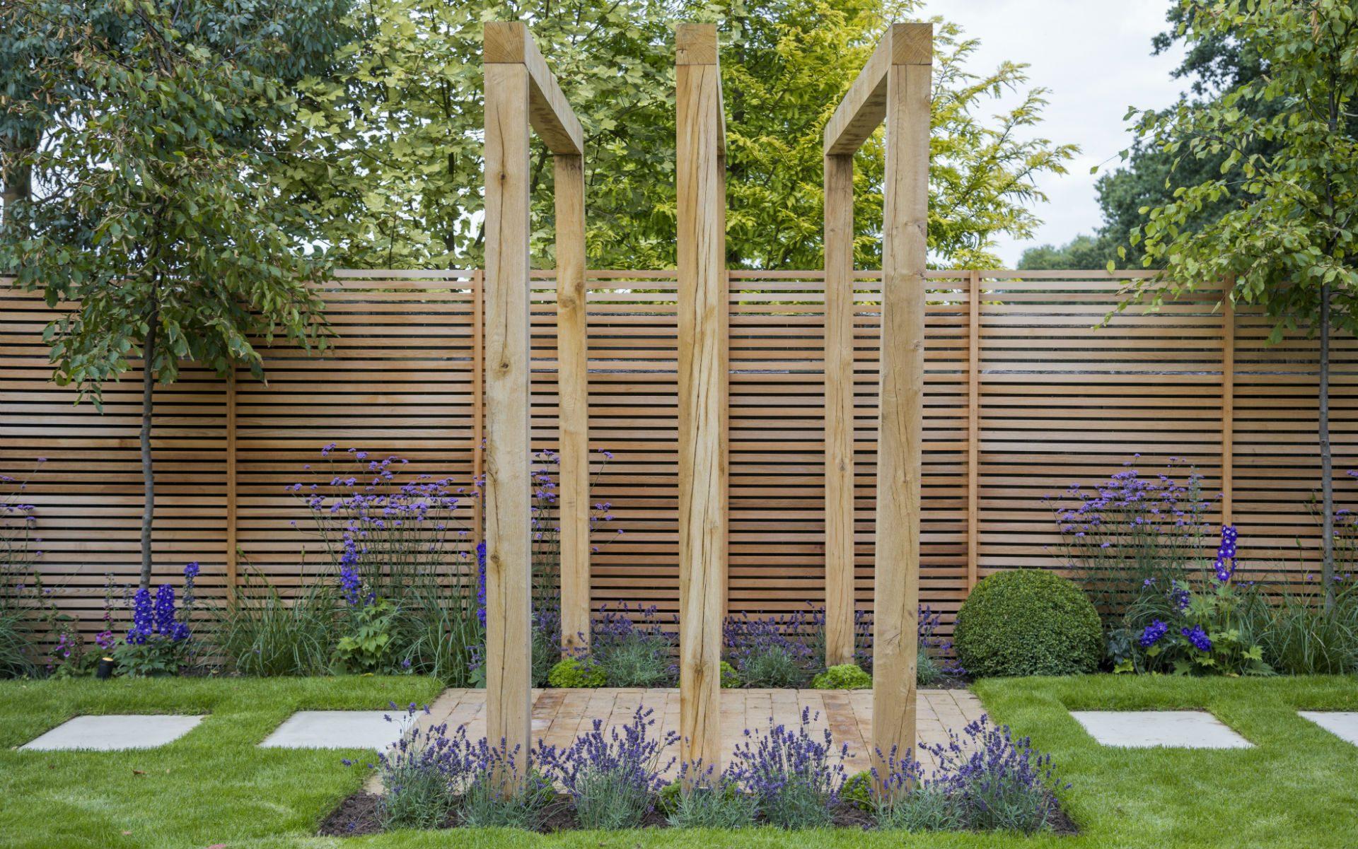 Portfolio Multi-level Contemporary Garden Stock Essex Bespoke Oak Pergolas