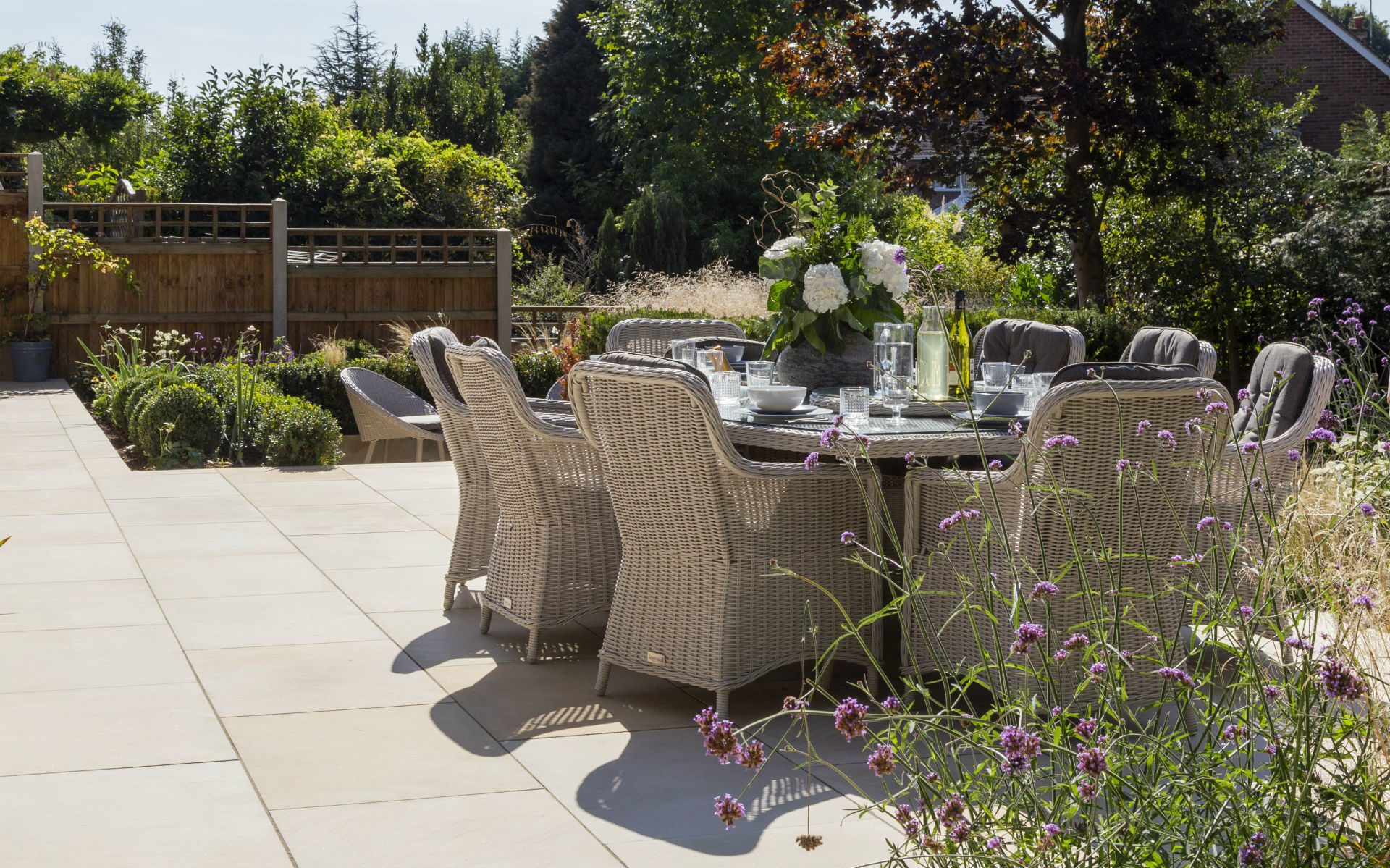 Portfolio Multi-level Landscape Garden Design and Build Ingatestone Essex Upper Patio