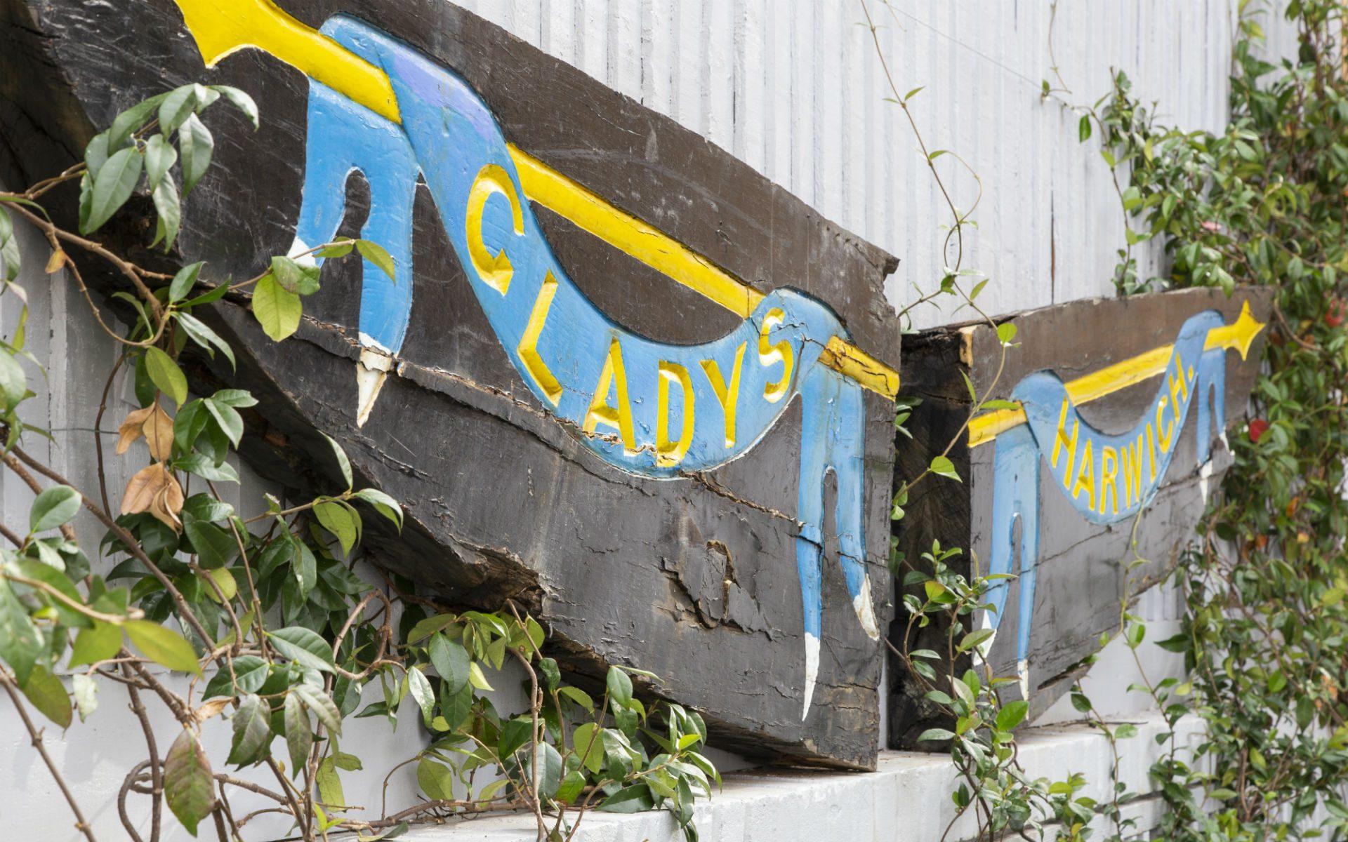 Small Quayside Garden Vintage Boat Art Design Feature Maldon Essex