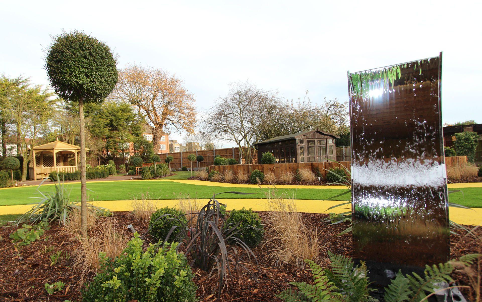 BALI Award Winning Sensory Dementia Garden Westcliff-on-Sea Essex Water Feature