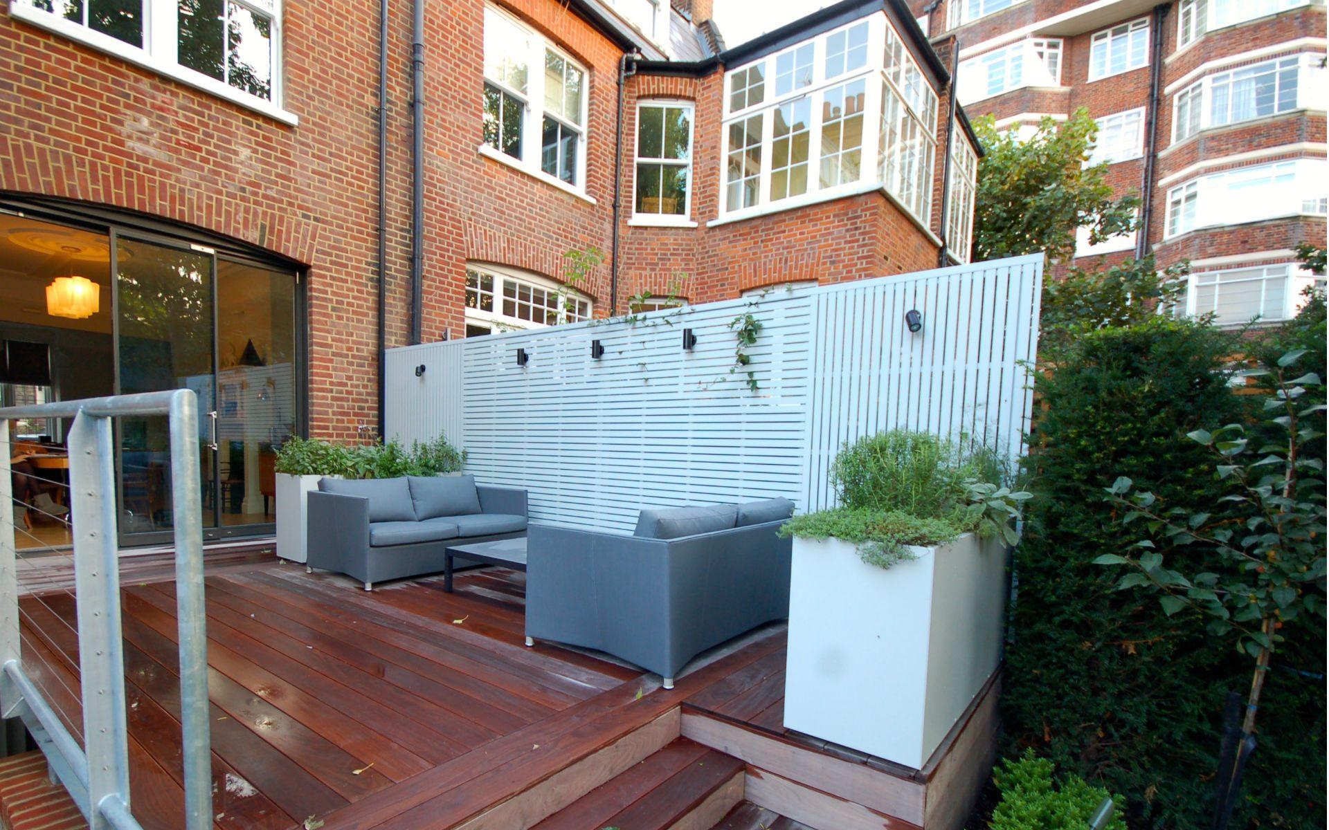 Contemporary Small Urban Garden Hampstead London Portfolio Terrace Balau Decking