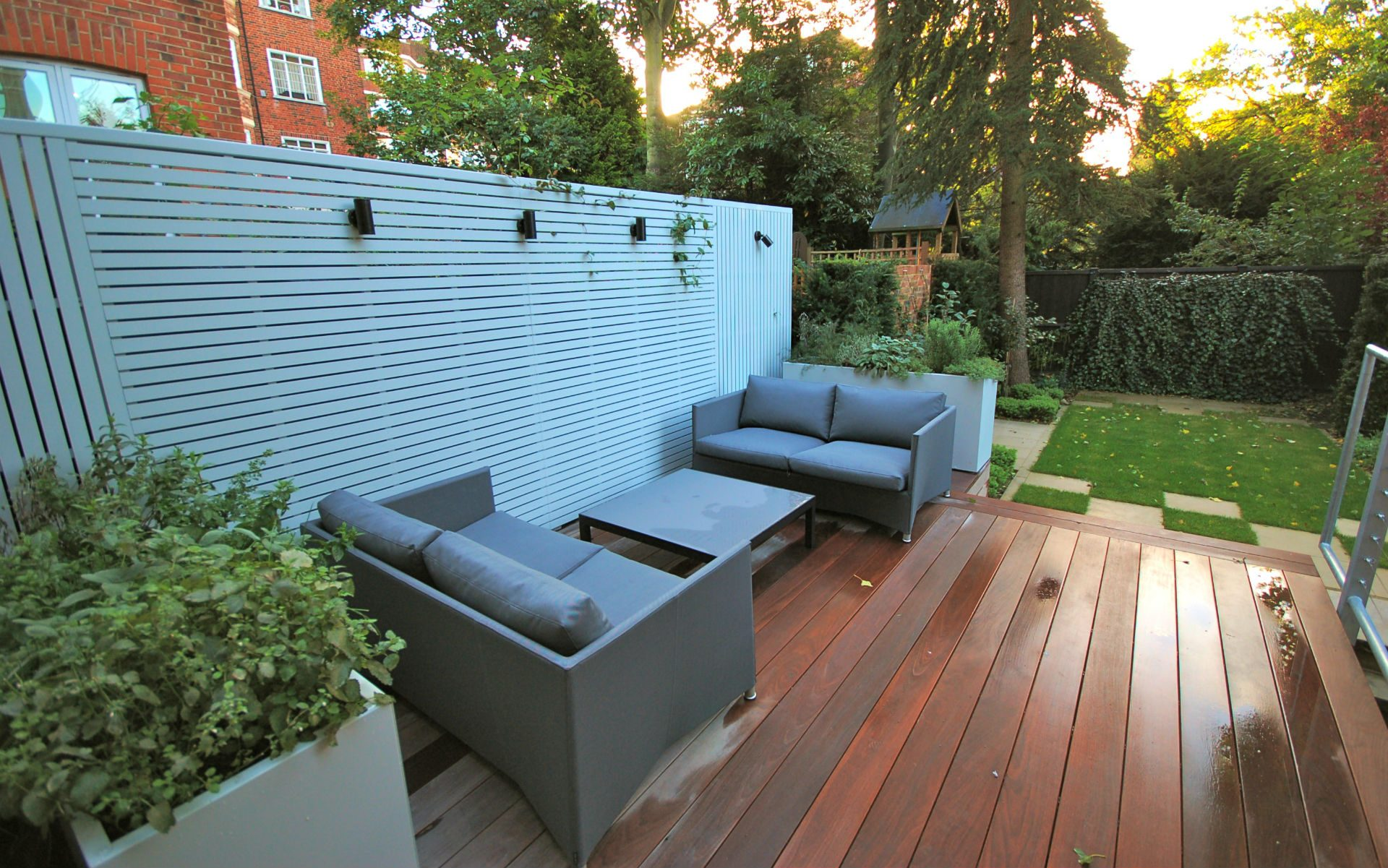 Contemporary Small Urban Garden Hampstead London Portfolio Terrace Decking