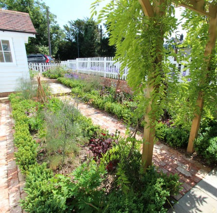 Traditional Cottage Garden Billericay Essex Cottage Planting and Pergola to Front
