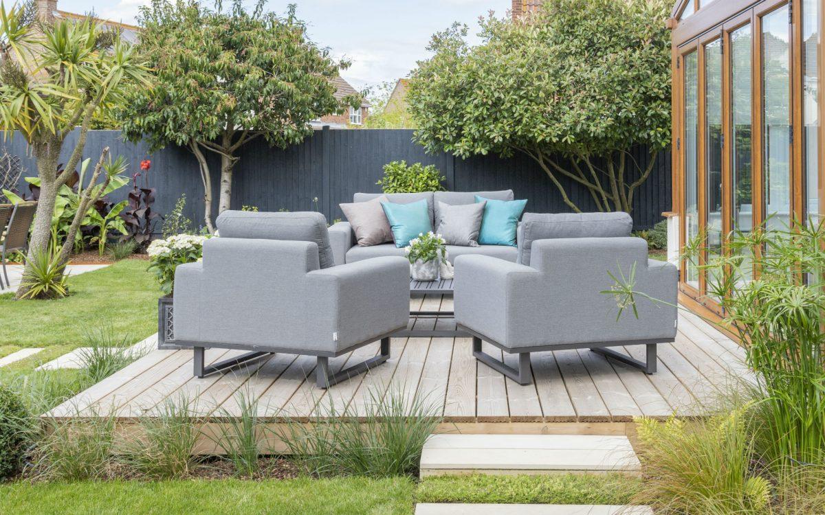 Asian Inspired Contemporary Garden Decking Essex