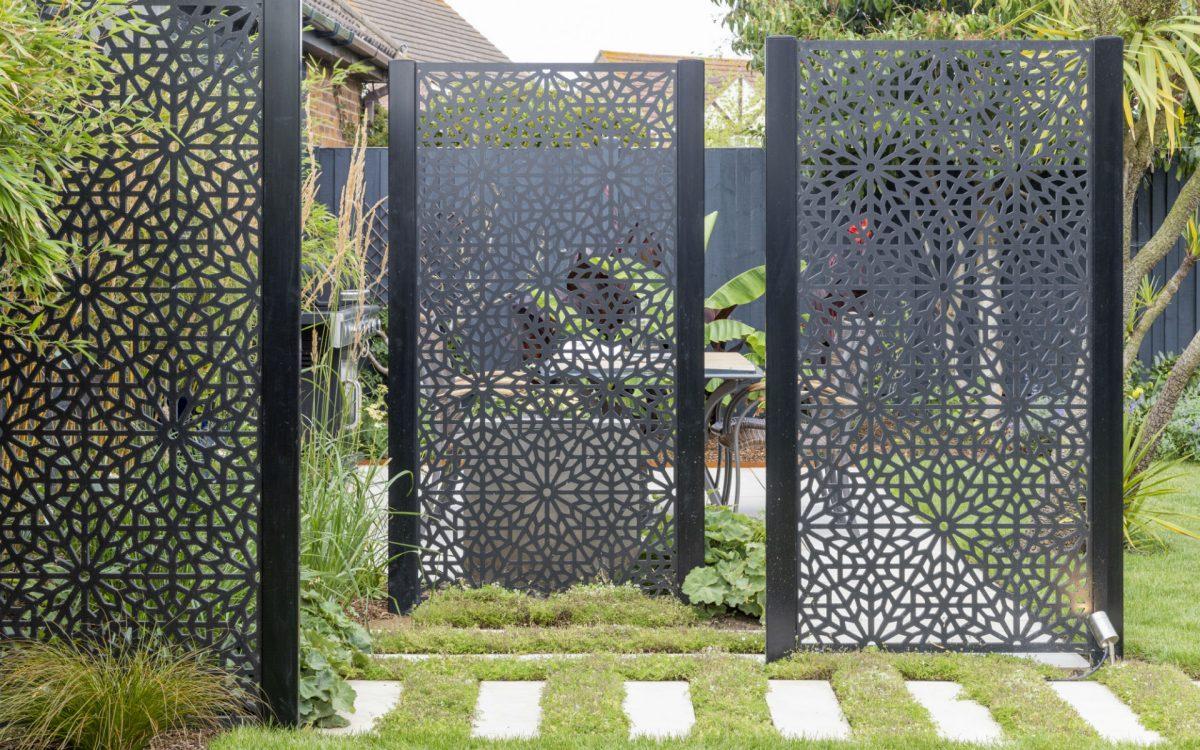 Asian Inspired Contemporary Garden Screens Essex