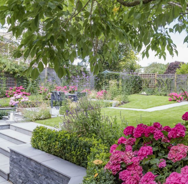 Multi-level Family Garden, Danbury Essex