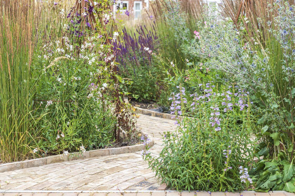 Traditional Garden Bradfield Essex. Design and Build Cube 1994. Organic Pathways